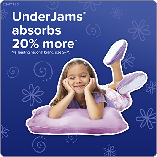 Pampers UnderJams Disposable Bedtime Underwear for Girls Size L/XL, 42 Count, SUPER by Pampers (Image #3)