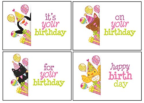 Birthday Cards In Bulk With KJV Scripture Cheerful Animal Greeting For Her Him Bird Cat Dog Penguin Peek A Boo