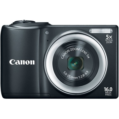 Canon PowerShot A810 16.0 MP Digital Camera with 5x Digital Image Stabilized Zoom 28mm Wide-Angle Lens with 720p HD Video Recording (Black) ()