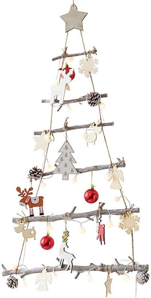 48 x 78 cm Britesta Deko-Holzleiter in Weihnachtsbaum-Form zum Aufhängen
