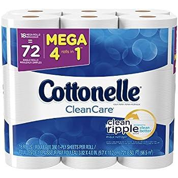 Cottonelle CleanCare Toilet Paper, Bath Tissue, 36 Mega Toilet Paper Rolls