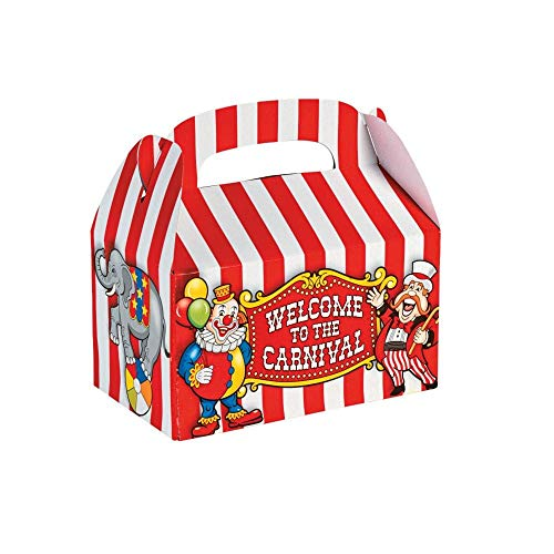 Circus Themed Halloween Costume Ideas (Fun Express - Big Top Treat Box (dz) for Party - Party Supplies - Containers & Boxes - Paper Boxes - Party - 12)