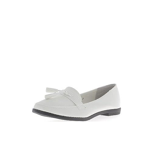 1 talonette Blanco Mujer Confort Mocasines cm Barniz y Mate: Amazon.es: Zapatos y complementos
