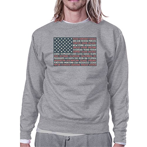 Unique shirt 50 Flag 365 States Sweat Us Taille Printing Longues Manches Femme 7n0nqRWO