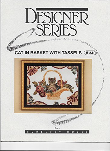 Cat In Basket With Tassels - Sudberry House #340 (Cross Stitch or Needlepoint Leaflet)