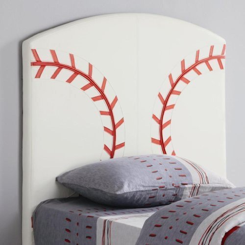 Coaster Home Furnishings 460167 Casual Headboard, Twin, White - Upholstered Baseball