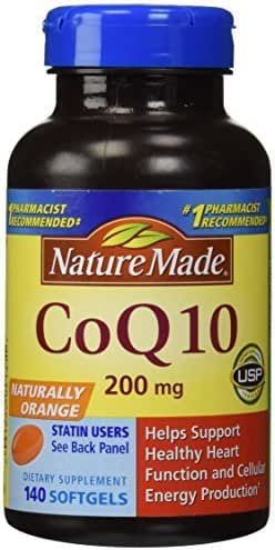 Nature Made CoQ10 Coenzyme Q10 200 mg - 2 Bottles, 120 Softgels Each by Nature Made