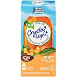 Crystal Light Drink Mix, Peach Tea, On The Go Packets, 10 Count (Pack of 6 Boxes)