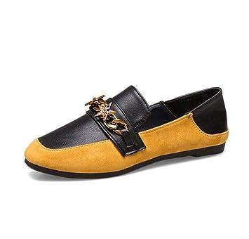 KUKI Zapatos de Carrefour, zapatos planos de mujer zapatos de gamuza diamante informal , 1
