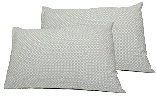 Dera Design 2 Toddler or Travel Pillowcases in Organic Cotton to Fit 13 x 18 and 14 x 19 Pillow, Shibori Print (Grey)