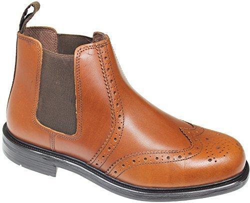 Brogue Cuir Mens Boots Cheville Oaktrack Travail Gusset Appleby 6 12 Smart Chelsea Uk Revendeur Chataigne nYwzq1TY