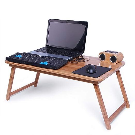 XUE Mesa Plegable, Mesa para Laptop, Mesa De Cuaderno para Cama ...