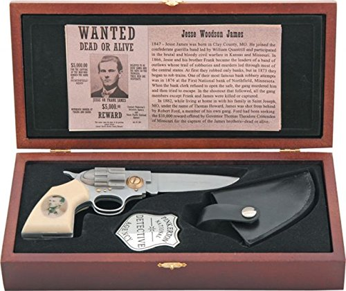Miscellaneous Jesse James Commemorative Folding Knife,4in closed,Stainless Blade,Imitation KN-773