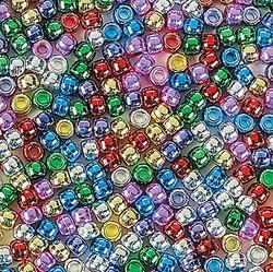 Shiny Pony Beads (2000 beads) - - Glass Beads Pony