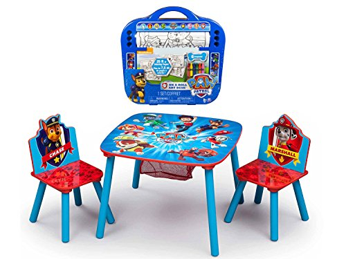 [Delta Children Paw Patrol Table and Chair Set with Storage and Paw Patrol 25-Foot Rolling Art Desk] (Thomas The Train Costume Walmart)