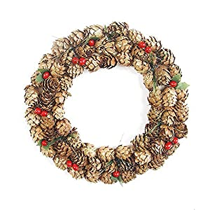 Led Moon Star - 7.87 39 Christmas Wreath Creative Pinecone Hanging Xmas Decor - Stage Baby Headband Artificial Table Soluble Banquet Wood Fall Snow Flower Garland Flower Stamen Flower Pom L 12