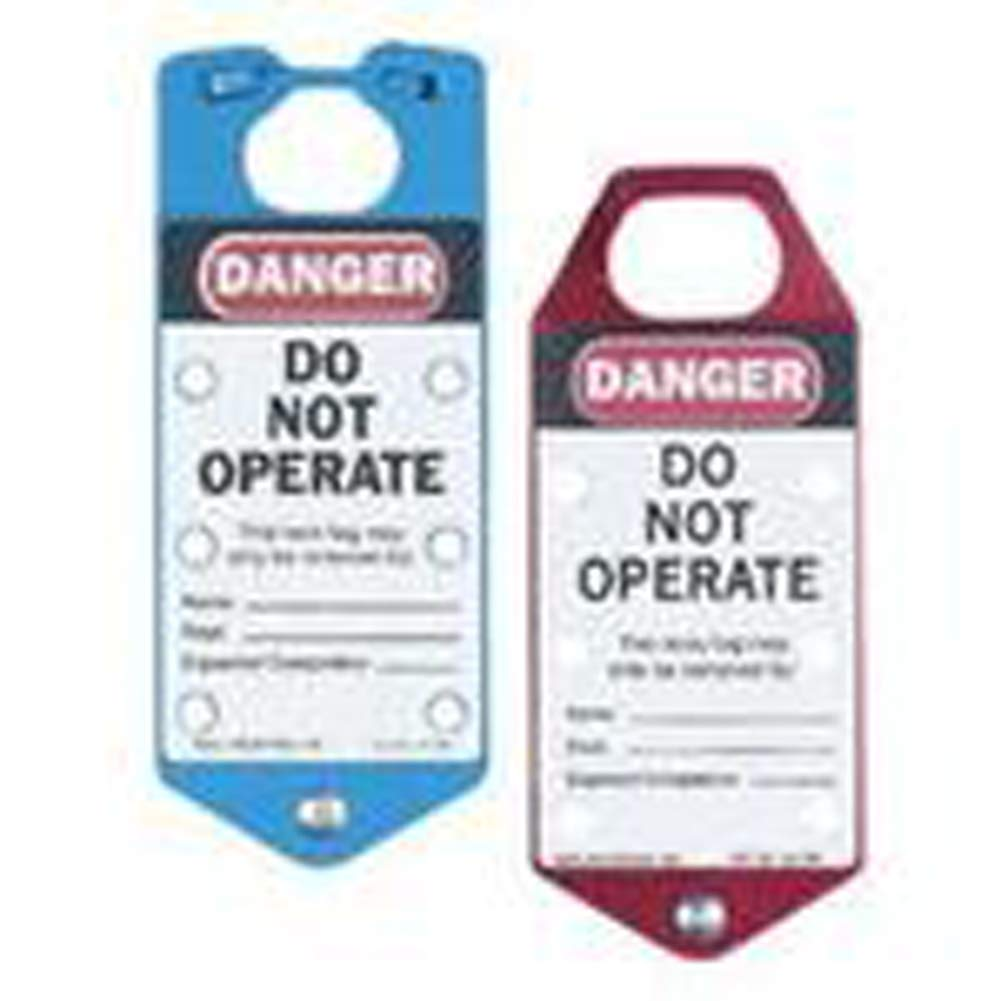 Ideal 44 791 Labeled Safety Lockout Hasp DO NOT OPERATE Red
