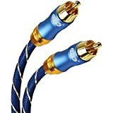 Subwoofer Cable,EMK Digital Coaxial Audio Cable [OD6.0Nylon Jacket] Premium S