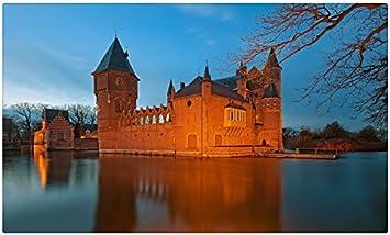 Países Bajos castillos lago castillo Heeswijk ciudades sitios de viajes postal Post tarjeta: Amazon.es: Oficina y papelería