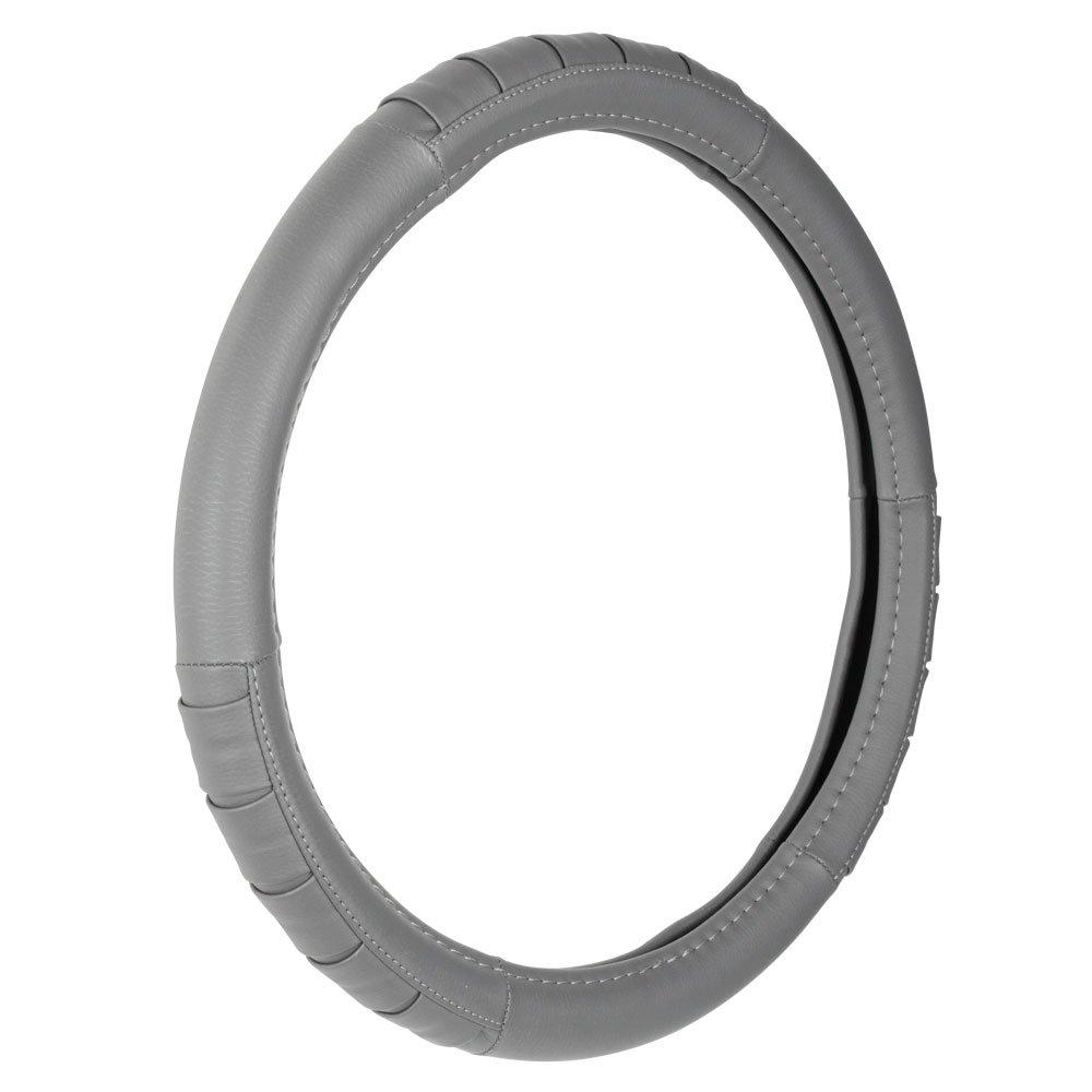 Custom Accessories 39952 Grey Pleated Steering Wheel Cover