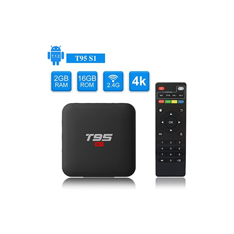 T95 S1 Android TV Box, Android 7.1 Amlog