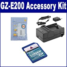 JVC GZ-E200 Camcorder Accessory Kit includes: SDM-1550 Charger, KSD2GB Memory Card, ZELCKSG Care & Cleaning