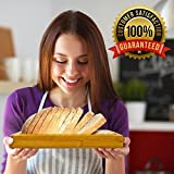 Premium Bamboo Foldable Bread Slicer – Built in