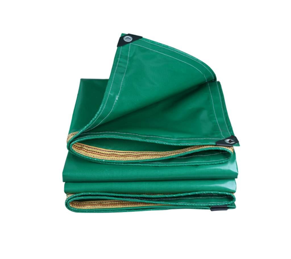 QQHWDT LYX® Regendichtes Tuch, Ultraleichtes LKW Regendichtes Tuch Wasserdichtes Sonnenschutz Plane Tuch Plane Plane Schatten Tuch Verdicken Oxford Segeltuch Grünes Auto im Freien Dreirad Abdeckung