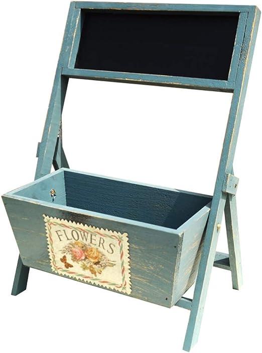 Healifty - Caja de Madera para Escritorio, con Pizarra de Tiza pequeña, multifunción, Color Blanco: Amazon.es: Juguetes y juegos