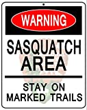 "Bigfoot Sasquatch Warning National Park Service NPS 8"" X 10"" Novelty Metal Sign"