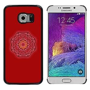 Be Good Phone Accessory // Dura Cáscara cubierta Protectora Caso Carcasa Funda de Protección para Samsung Galaxy S6 EDGE SM-G925 // Evil Red Witch Atom Art