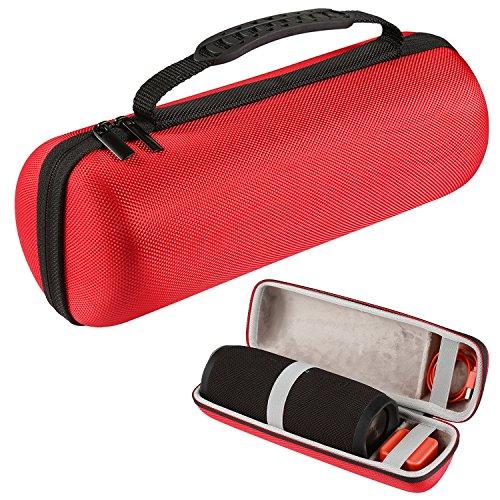 Luckynv duro caso de almacenamiento bolsa de viaje para JBL Charge 3 Altavoz inalámbrico Bluetooth, Rojo