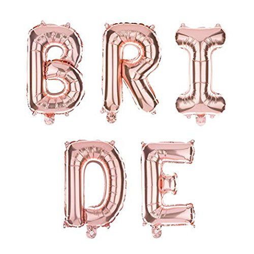 Ella Celebration Bride Letter Balloons Rose Gold Large Helium Balloon Letters, Big 35 Inch]()