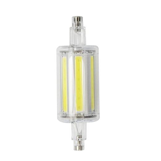 BLOOMWIN R7s 8W bombilla COB 78mm luz de bulbo AC85-265V blanco