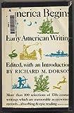 America Begins, Richard M. (ed.) Dorson, 0253280206