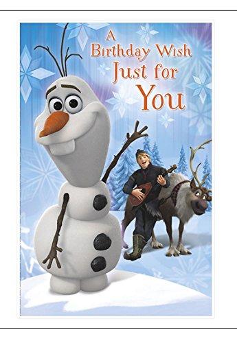 Tarjeta de cumpleaños Disney Frozen: Amazon.es: Oficina y ...