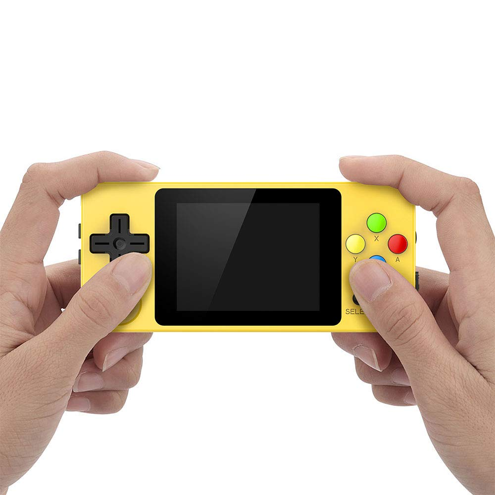 crae9kd LDK Second Generation Game Console Mini Handheld Family Retro Games Console Yellow by crae9kd (Image #4)