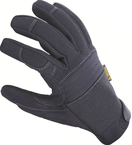 Padded Knuckle (Premium Mechanic Duty Gloves with Padded Knuckles, Reinforced Palm, Firm Tool Grip, High Stretch Spandex Back, Perfect Fit Flexibility, Great Wear to Work, Safety Protection, All Purpose Tactical Gear)