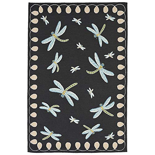 Liora Manne FTP57204847 2048/47 Dragonfly Midnight Rugs, 5' X 7'6