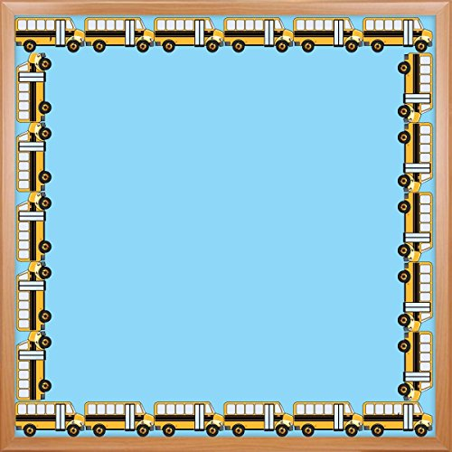 Hygloss Products, Inc 33660 Hygloss Products School Bus Die-Cut Bulletin Board Border - Classroom Decoration - 3 x 36 Inch, 12 Pack (School Time Border Trim)