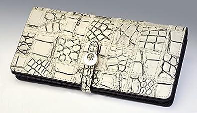 92a0ce43391a Amazon | ≪クロコダイル≫ ラウンドファスナー/パッチワーク長財布 | 財布