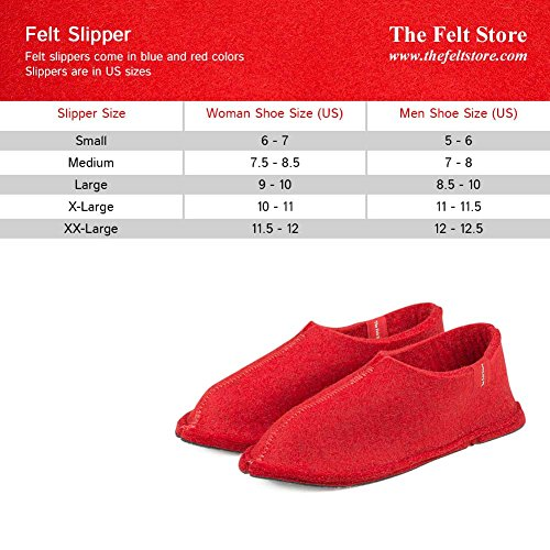 The Rosso Donna Store Pantofole Felt Rot WY7qpYvn