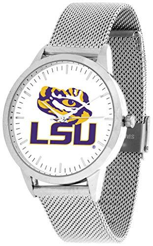 LSU Tigers - Mesh Statement Watch - Silver Band