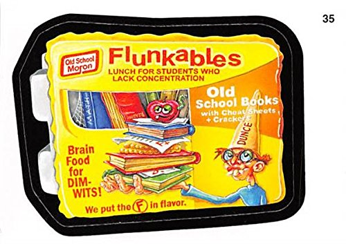Flunkables trading card sticker Wacky Packages 2007 Topps #35 not Lunchables (2007 Wacky Packages)