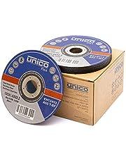 Ipotools Slijpschijven, voor metaal, doorslijpschijven, 125 x 1,0 mm, flexibele schijven, boring: 22,23 mm, voor slijpmachines of haakse slijper, 50 stuks