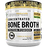 Vanille Bone Broth Protein Powder - Paleo Friendly - Natural Non GMO Grass Fed Beef - Gluten Free Ancient Form of Nutrition Made Modern 445g/15.7oz 20 Servings. Premium Collagen Peptides