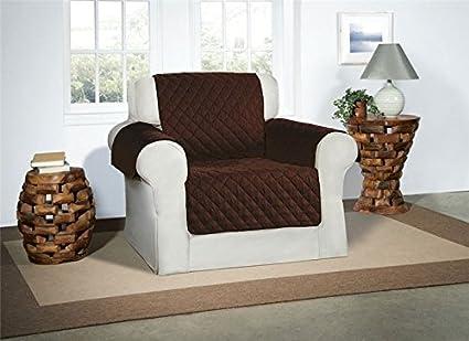 Safari Homeware Cubre Chocolate/Marrón para Sillones - Protector de Muebles Acolchado de Lujo