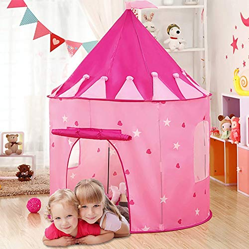 PowerLead Kids Play Tent, Girls Castle Play House for Indoor & Outdoor – Foldable Princess Playhouse with Carrying Bag…