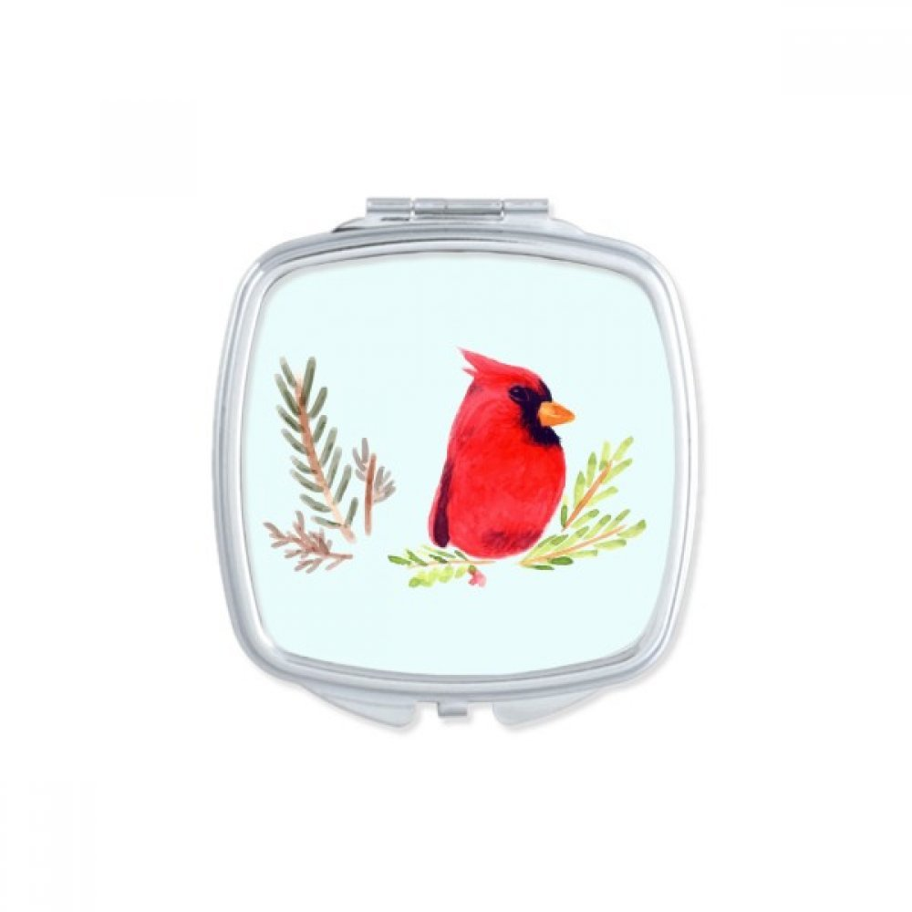 Bird Animal Magpie Red Square Compact Makeup Mirror Portable Cute Hand Pocket Mirrors Gift by DIYthinker