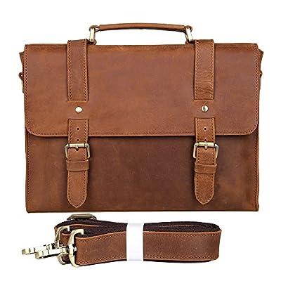 338883d303ea Genda 2Archer Mens Crazy Horse Leather Shoulder Business Bag ...